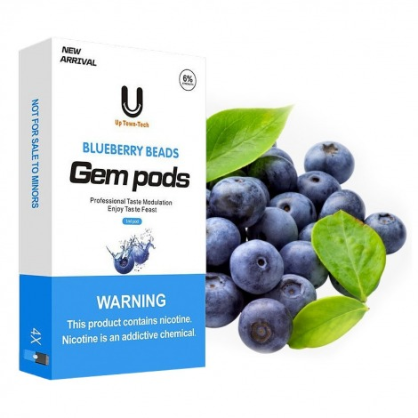 Gem Pods for Juul Blueberry Beads 60 mg x4