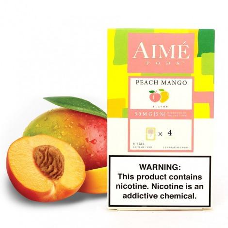 Aime Pods par Juul Peach Mango 50 mg x4