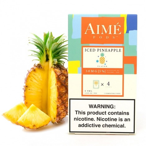 Aime Pods for Juul Iced Pineapple 50 mg x4